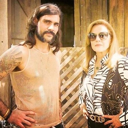 Juliano Cazarré e Marieta Severo - Reprodução/Instagram
