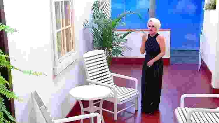 Ana Maria Braga se emociona na varanda - Reprodução/GShow - Reprodução/GShow