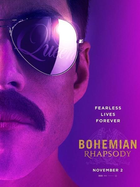 """Pôster oficial do filme """"Bohemian Rhapsody"""" - Reprodução"""