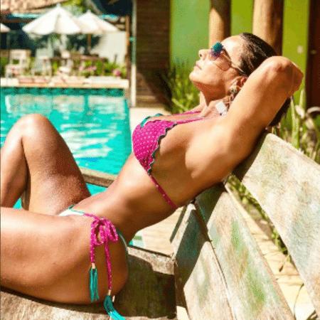 Viviane Araújo durante férias na Bahia - Reprodução/Instagram