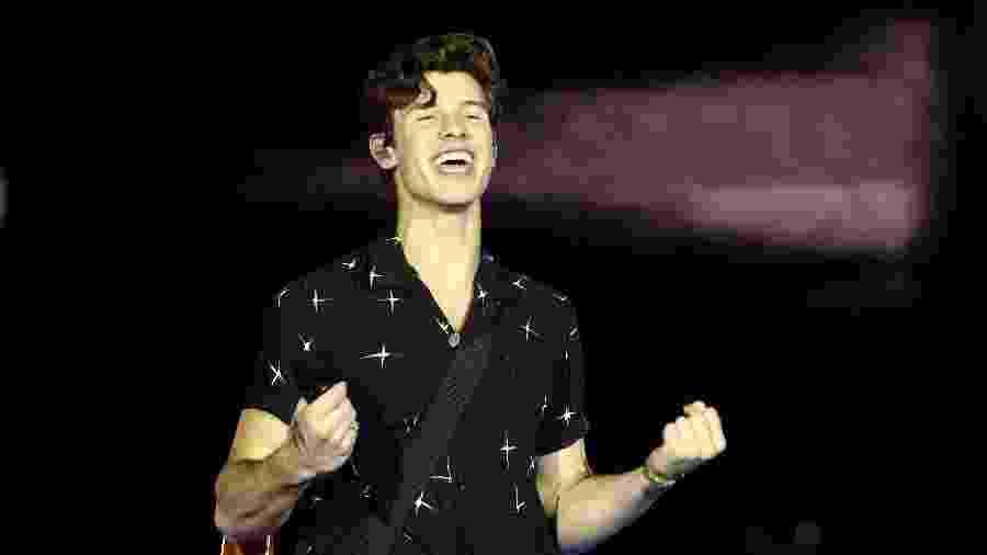 Shawn Mendes sorri para o público brasileiro no VillaMix Festival Goiânia - Manuela Scarpa/Brazil News