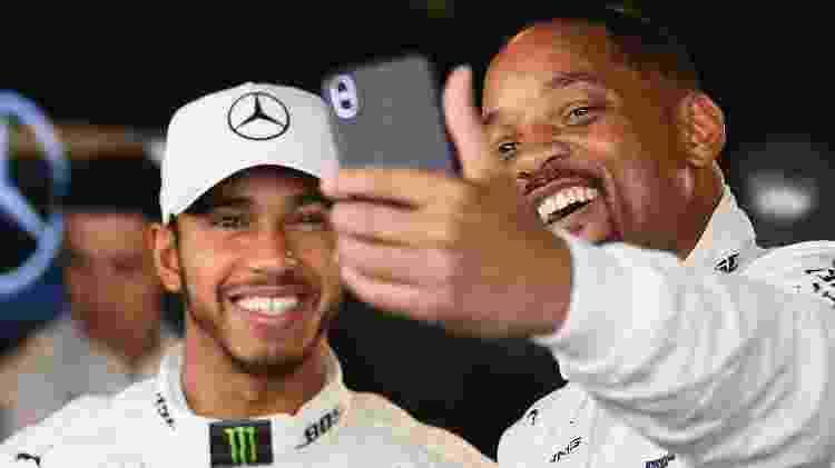 Will Smith selfie com Lewis Hamilton 1 - Clive Mason/Getty Images - Clive Mason/Getty Images