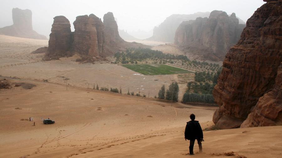 Imagem da região de Al-Ula, na Arábia Saudita - Yousef Albalawi/ArabianEye