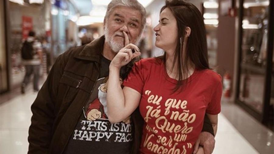 Mari Palma e o pai Luiz Palma - Reprodução/Instagram