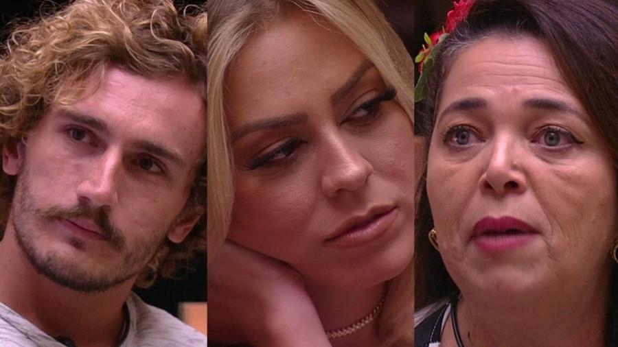 """Alan, Isabella e Tereza estão no sexto paredão do """"BBB19"""" - Montagem/TvGlobo"""