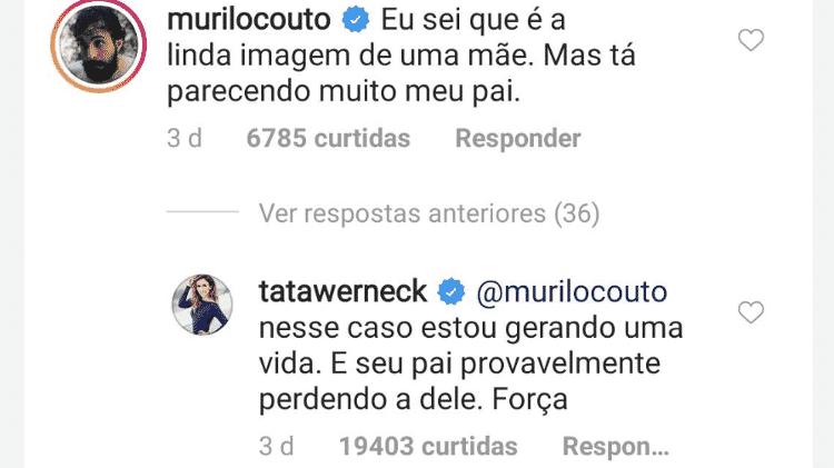 Tatá Werneck rebate comentário de Murilo Couto - Reprodução/Instagram