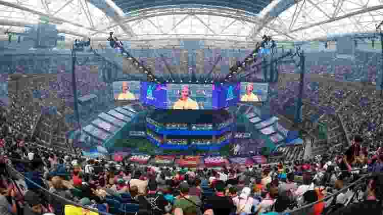 Copa do Mundo de Fornite aconteceu no Arthur Ashe Stadium, em Nova York - Johannes Eisele/AFP