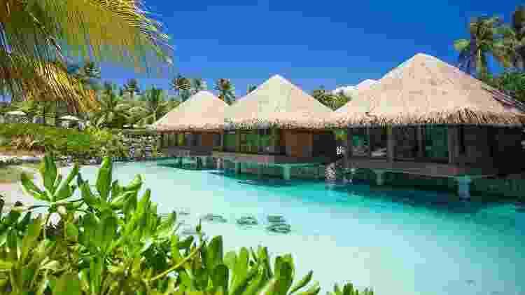 Salas de massagem do Hotel Interncontinental Bora Bora Resort & Thalasso Spa  - Divulgação - Divulgação