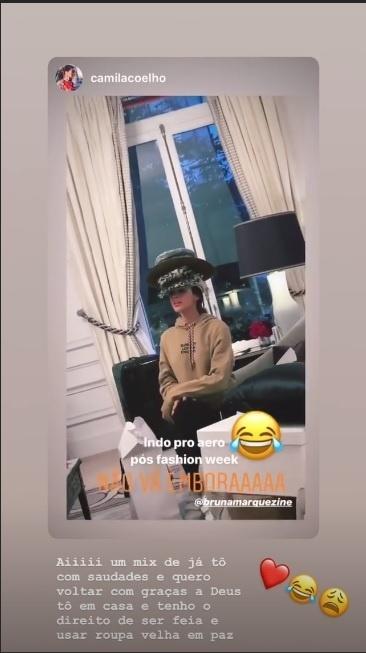Bruna Marquezine em brincadeira com Camila Coelho