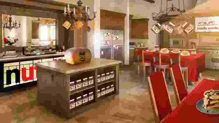"""Cozinha do """"Hotella Nutella"""" - Divulgação"""