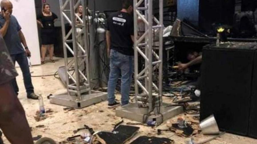 Explosão de cilindro antes de show do cantor Dilsinho em Indaiatuba - Arquivo pessoal