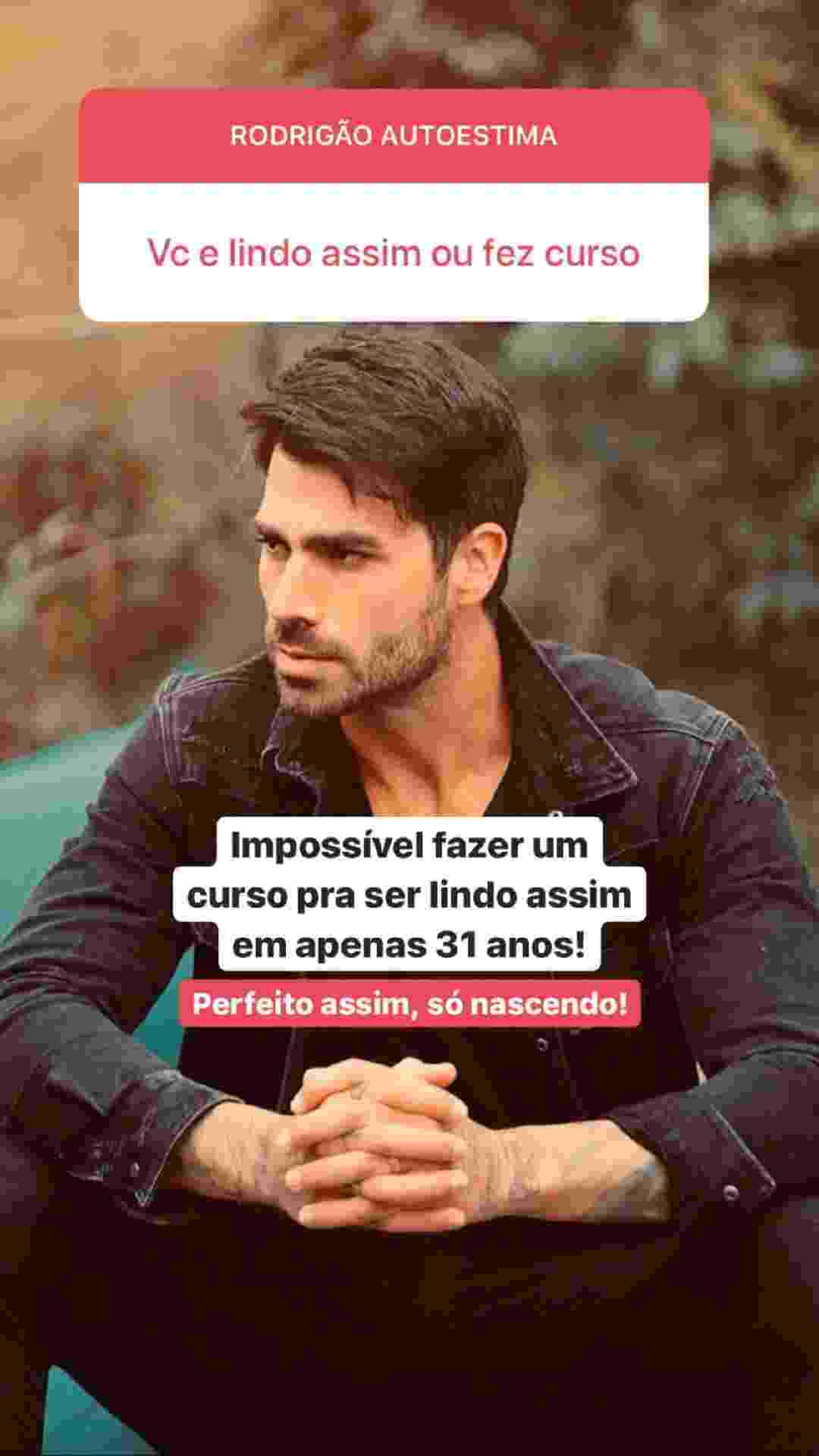 Rodrigão, participante do BBB 11, esbanja autoestima em conversa com fãs no Instagram - @rodrigaooficial/Instagram
