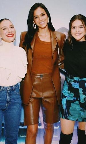 Priscila Alcântara, Bruna Marquezine e Maísa em pré-estreia de filme de Bruna
