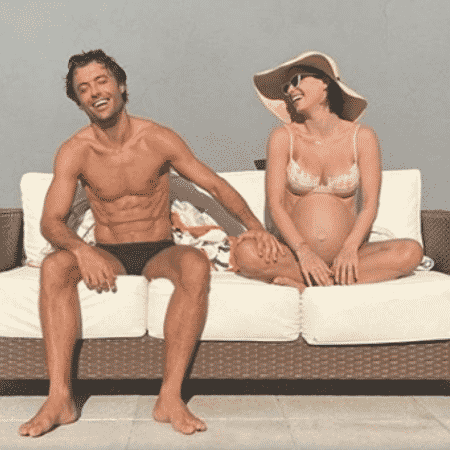 Kayky e Sthefany Brito se divertem em dia de sol na reta final da gravidez da atriz - Reprodução/Instagram/@sthefanybrito