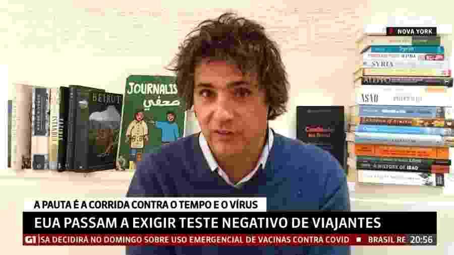 """Guga Chacra rebate críticas sobre cabelo: """"Uso como eu quiser"""" - Reprodução/GloboNews"""
