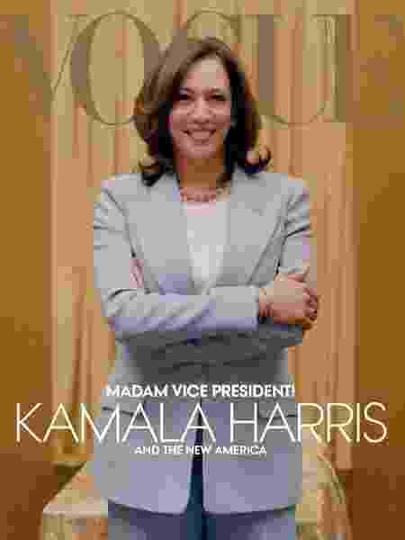 """Kamala Harris para a """"Vogue"""" - Reprodução - Reprodução"""