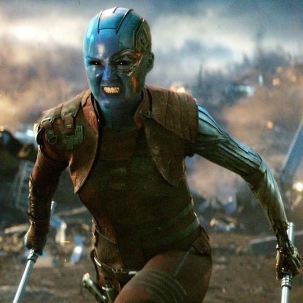 Karen Gillan como Nebula em 'Vingadores: Ultimato'