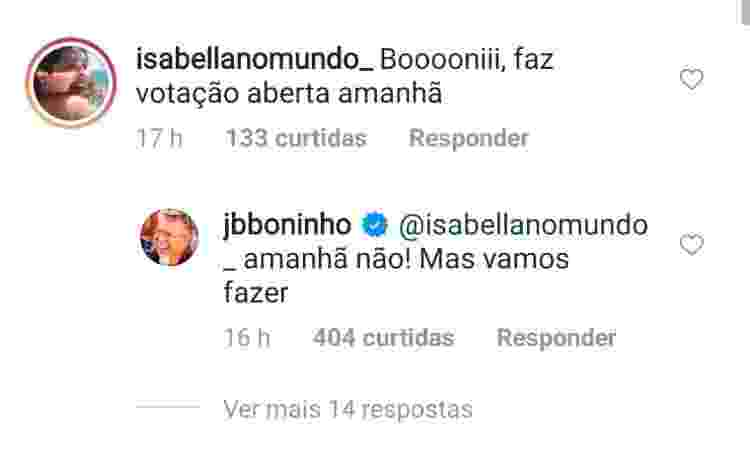 BBB 21: Boninho afirma que edição terá votação aberta - Reprodução/Instagram - Reprodução/Instagram