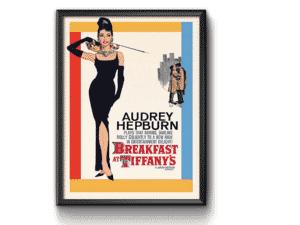 """Quadro Pôster com vidro """"Breakfast af Tiffany's"""" - Divulgação - Divulgação"""