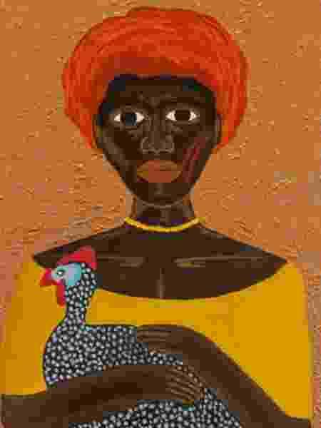 Rainha Marta era líder dos quilombos de Iguaçu, no Rio de Janeiro. Aqui ela aparece retratada na tela de Mariana Rodrigues - Divulgação - Divulgação