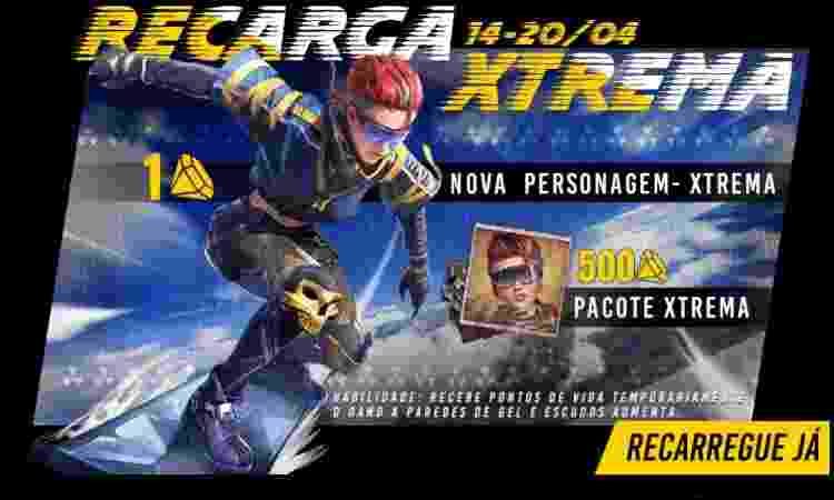 Xtrema Free Fire - Divulgação/Garena - Divulgação/Garena