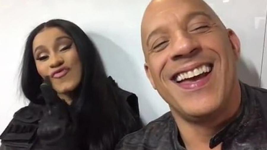 Cardi B e Vin Diesel - Reprodução/Instagram