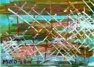 Obra do médium Giovanni D' Andrea, atribuída a Mondrian - Tenda Espírita Irmãos Do Oriente/Reprodução