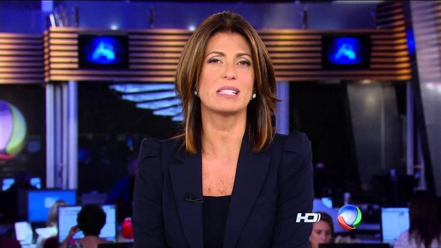 "A jornalista Janine Borba apresenta o ""Jornal da Record"" - Reprodução/TV Record"