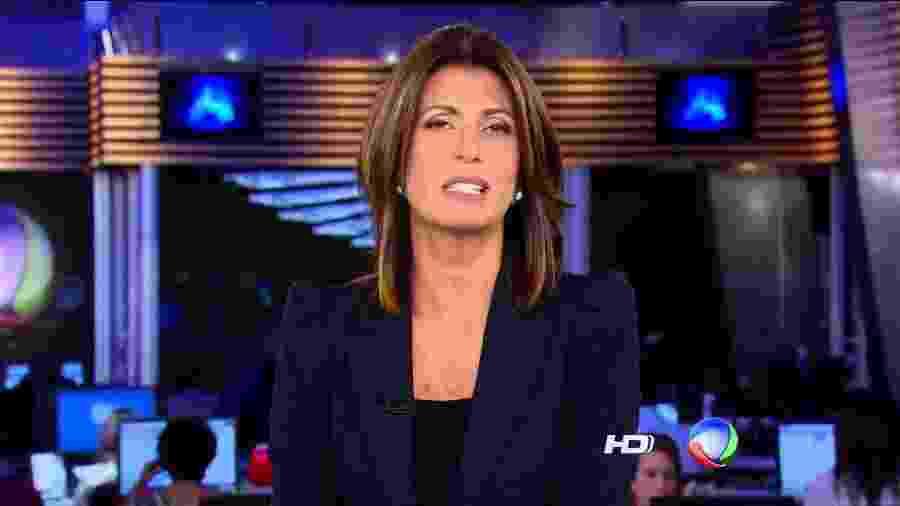A jornalista Janine Borba  - Reprodução/TV Record