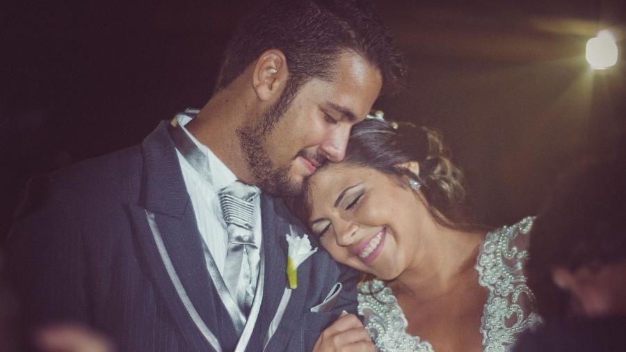 O casal Thyago e Diana venceu as adversidades e conseguiu se casar no dia 28 de novembro de 2015 - Arquivo Pessoal