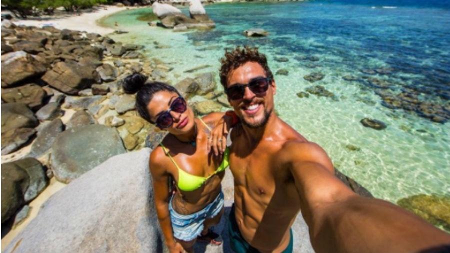 Aline Riscado e Felipe Roque em férias na Tailândia - Reprodução/Instagram/aline_riscado