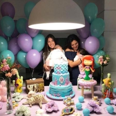 Mariana Uhlmann e Yanna Lavigne fazem festa para Maria e Madalena - Reprodução/Instagram/uhlmannmariana