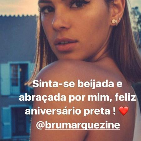 Rafaella dá parabéns para Bruna Marquezine - Reprodução/Instagram/rafaella