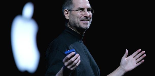 Empresário americano Steve Jobs que fundou a Apple