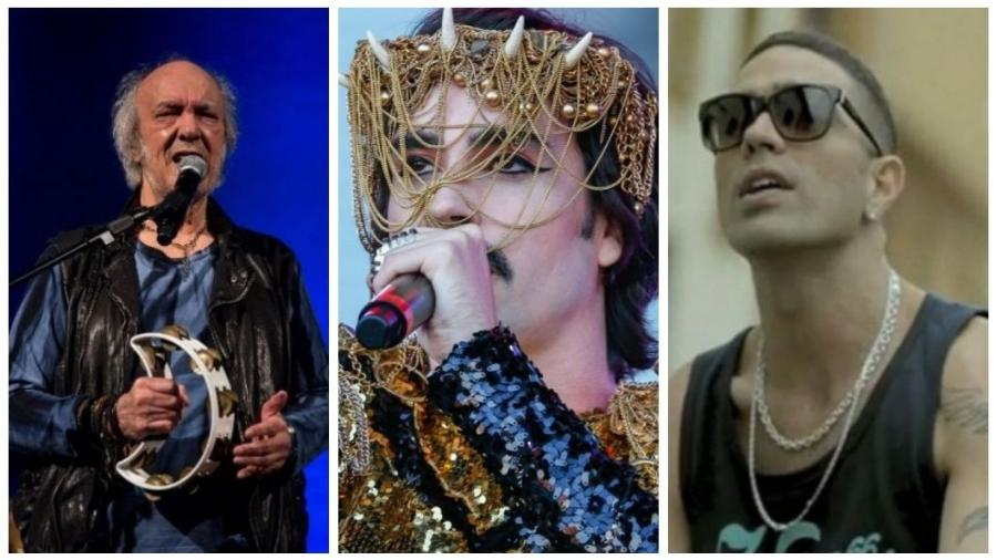 Erasmo Carlos, Johnny Hooker e Don L se apresentarão na 23ª edição do Festival Rec-Beat - Montagem UOL