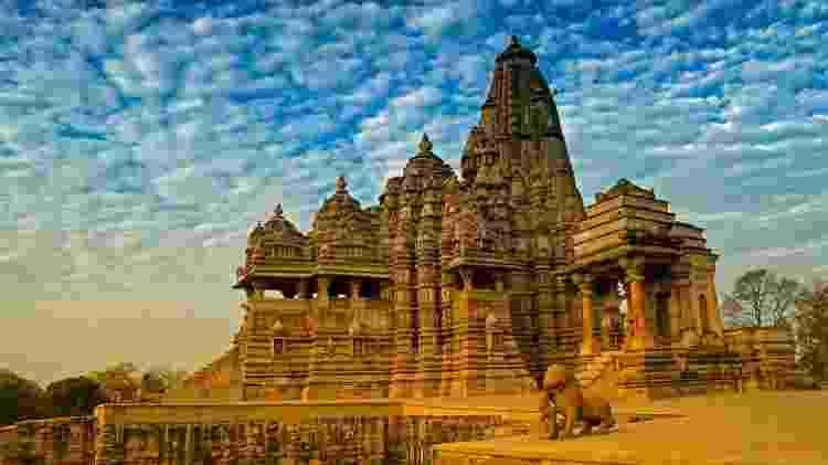 Localizados na Índia, os templos de Khajuraho também exibem uma linda arquitetura - Getty Images/iStockphoto - Getty Images/iStockphoto