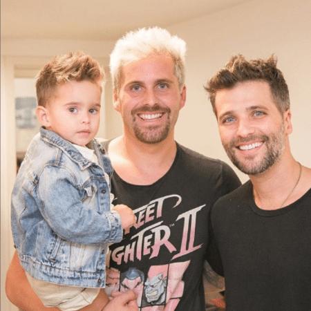 Thiago Gagliasso com o filho, Gabriel, e o irmão, Bruno Gagliasso - Reprodução/Instagram