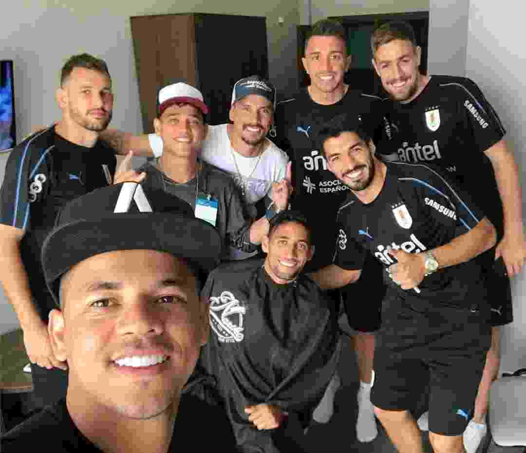 """Neymar """"empresta"""" seu cabeleireiro a jogadores do Uruguai - Reprodução/Instagram"""