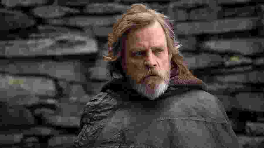 "Luke Skywalker em ""Star Wars: Os Últimos Jedi"" - reprodução/Star Wars: Os Últimos Jedi/Lucasfilm"