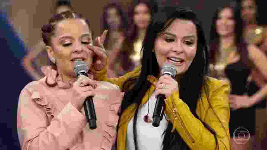 Maiara e Maraísa no Faustão - Reprodução/TV Globo