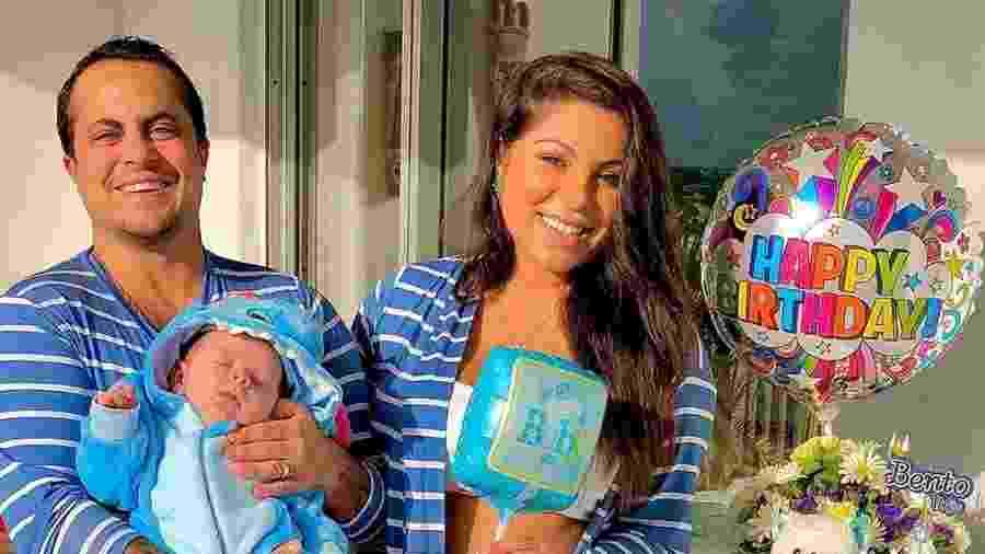 Bento, filho de Thammy e Andressa, nasceu em janeiro - REPRODUÇÃO/INSTAGRAM