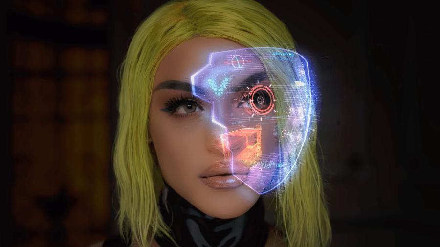 Pabllo Vittar jogou Cyberpunk 2077 em suas primeiras transmissões - Reprodução