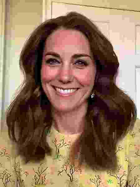 Kate Middleton em videoconferência durante a pandemia - Reprodução/Instagram