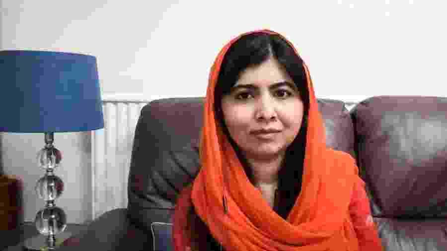 A ativista paquistanesa Malala Yousafzai durante participação no TED2020 - TED