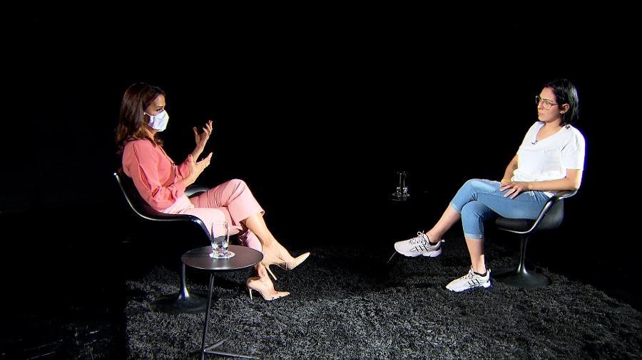 """Jornalista Adriana Araújo entrevista Isabela Tibcherani para o """"Repórter Record Investigação"""" - Divulgação/RecordTV"""