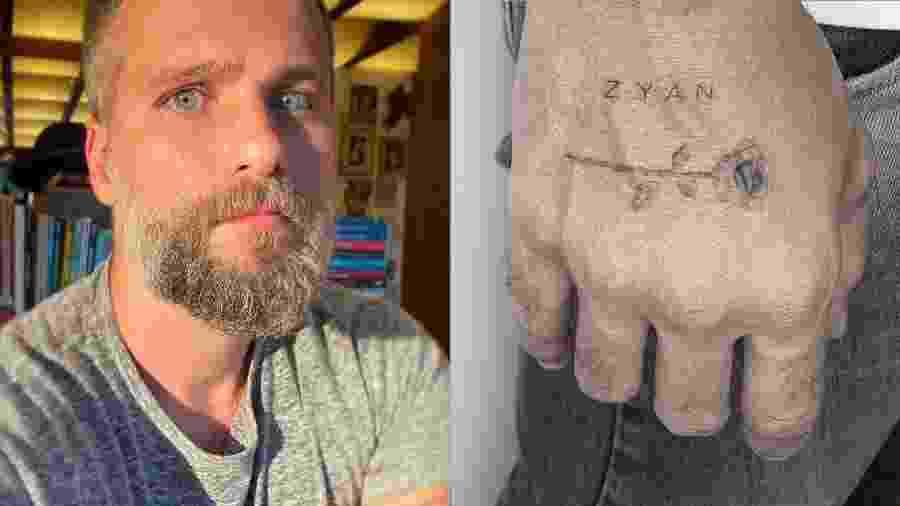 Bruno Gagliasso homenageou o filho Zyan com uma nova tattoo - Reprodução/Instagram
