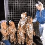 Kim Kardashian, os filhos e Jonathan Cheban viram personagens de 'Tiger King' - Reprodução/YouTube
