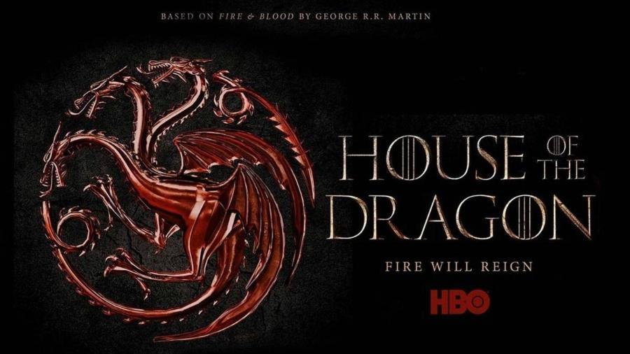 """O logo de """"House of the Dragon"""", série derivada de """"Game of Thrones"""" - Reprodução"""