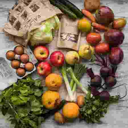 Cesta de alimentos orgânicos do Raízes - Divulgação - Divulgação