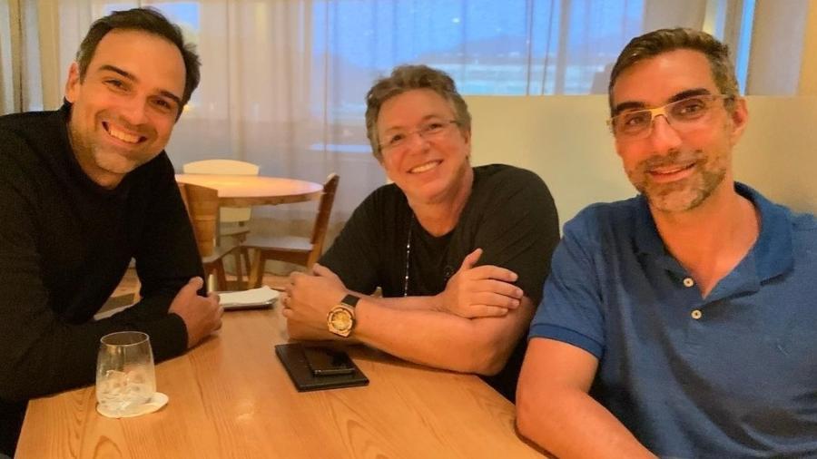 Tadeu Shmidt e Boninho em reunião do BBB22 - Reprodução/Instagram